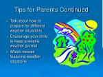 tips for parents continued