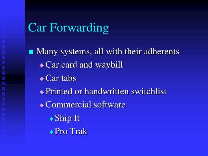 Car Forwarding