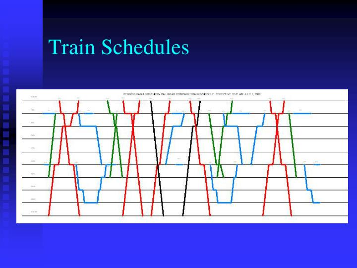 Train Schedules