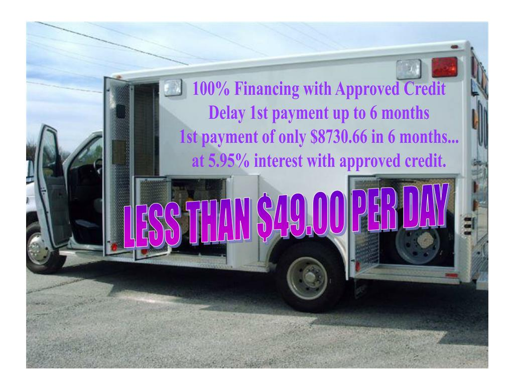 100% Financing with Approved Credit
