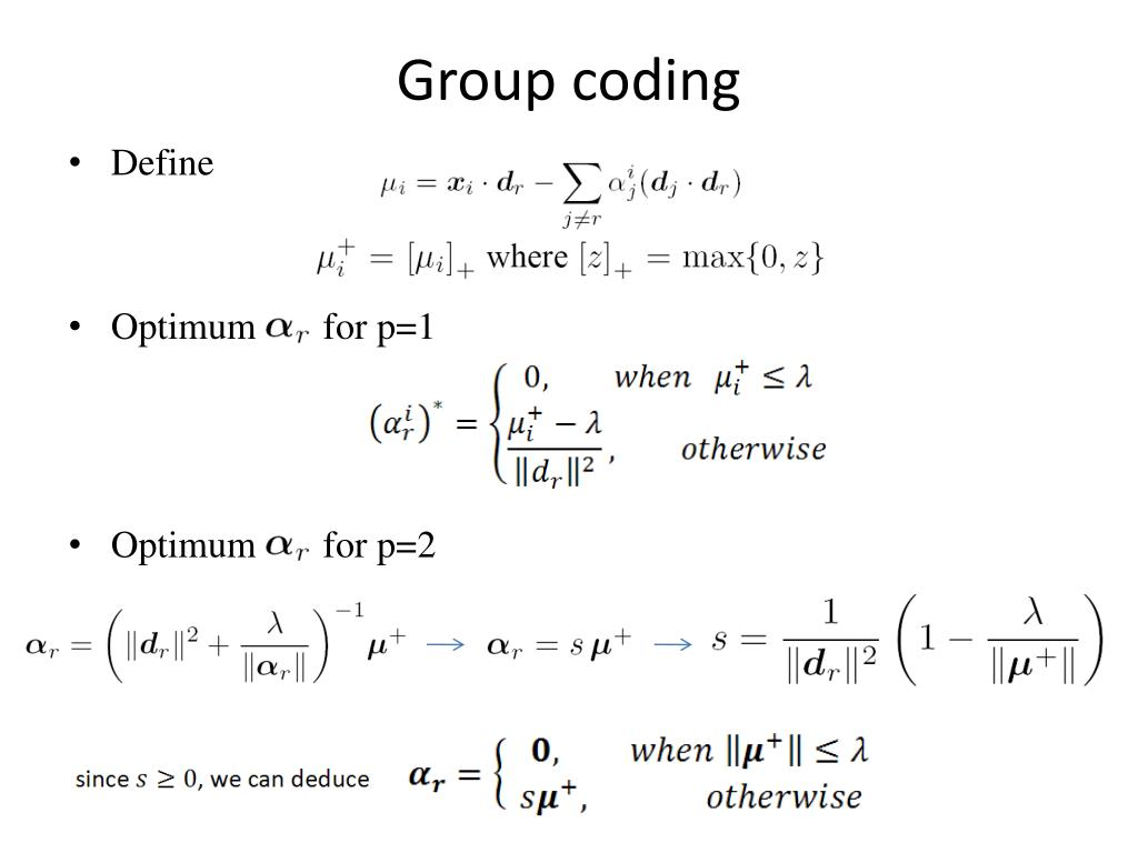 Group coding