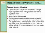 phase 2 evaluation of alternatives contd12