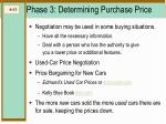 phase 3 determining purchase price