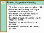 phase 4 postpurchase activities