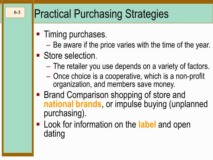 Practical purchasing strategies