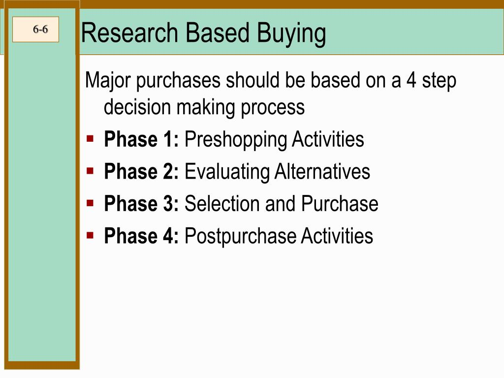 Research Based Buying