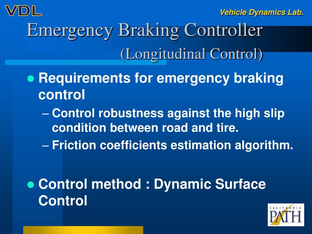 Emergency Braking Controller