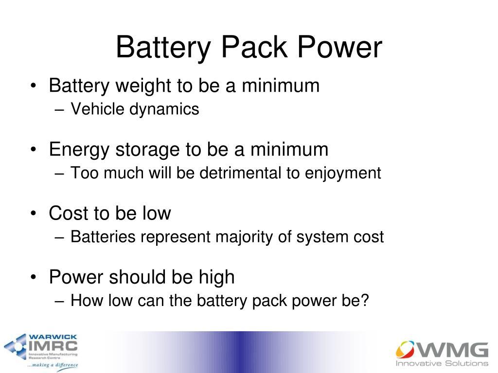 Battery Pack Power