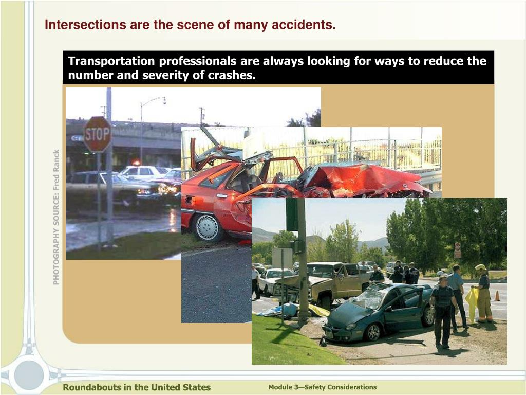 Intersections are the scene of many accidents.