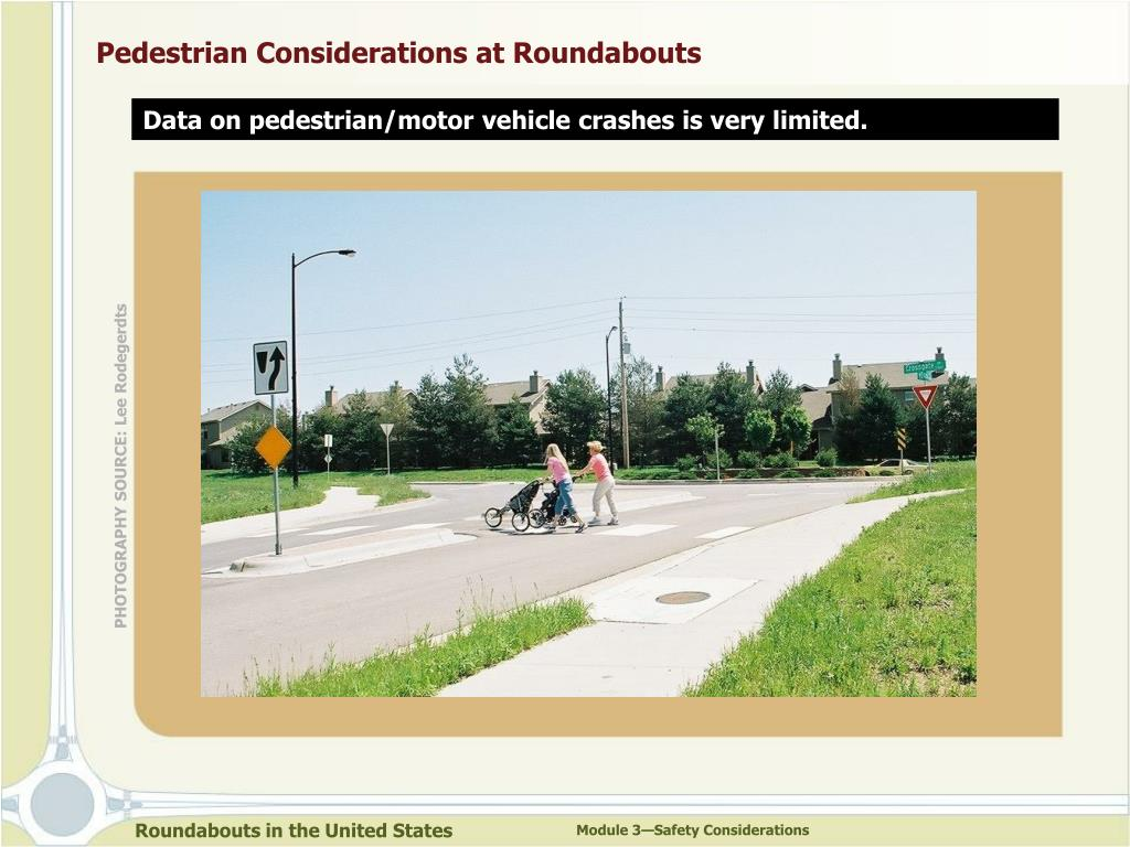 Pedestrian Considerations at Roundabouts