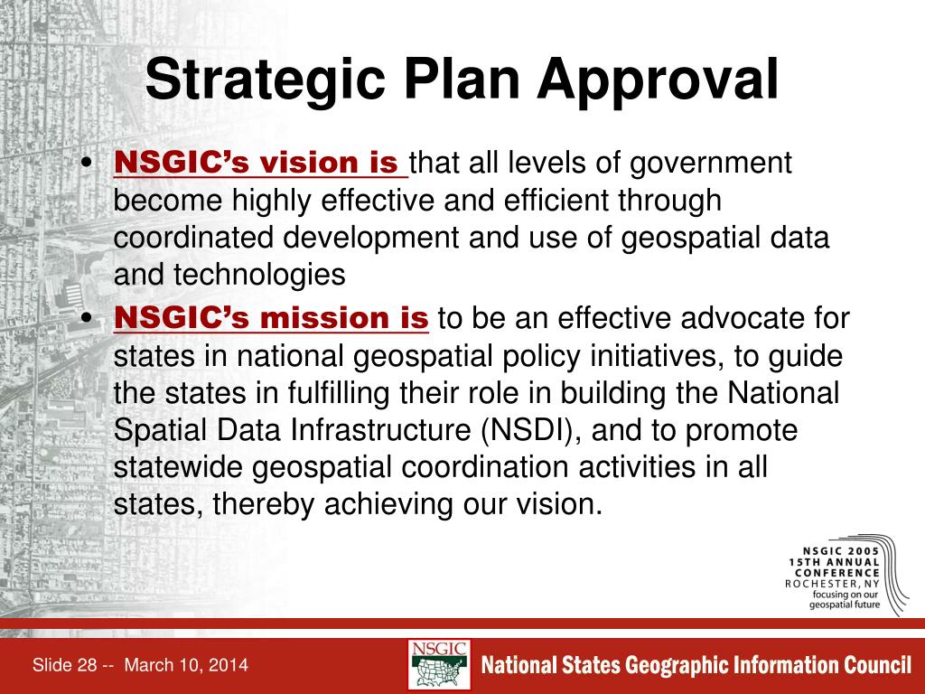 Strategic Plan Approval