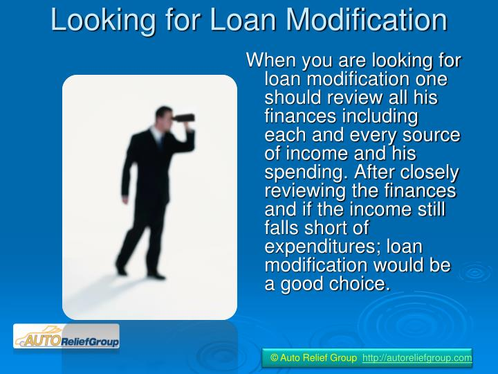 Looking for loan modification