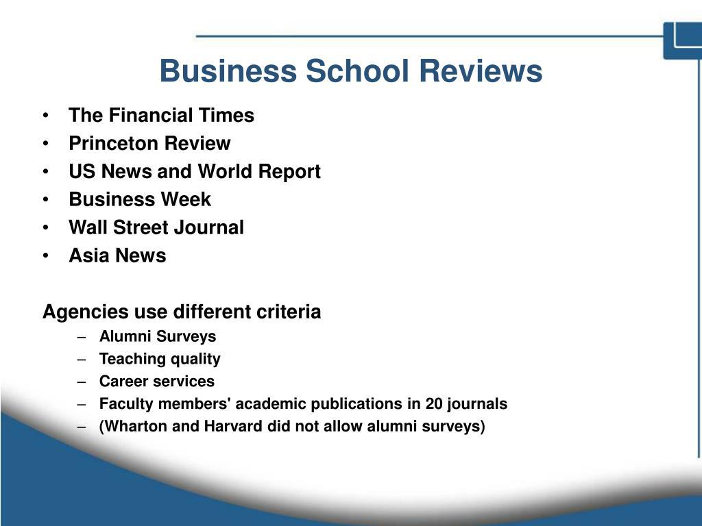 Business School Reviews