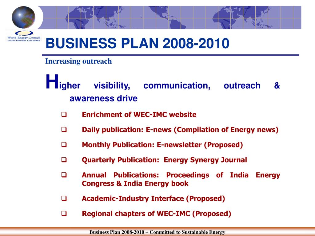 BUSINESS PLAN 2008-2010