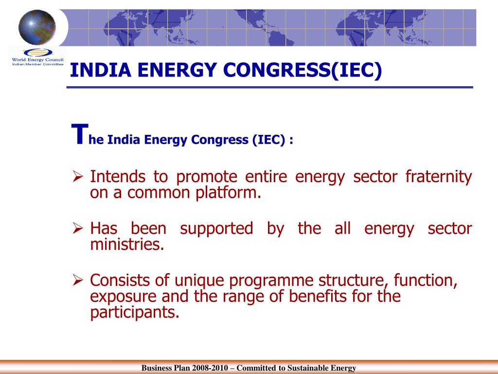 INDIA ENERGY CONGRESS(IEC)