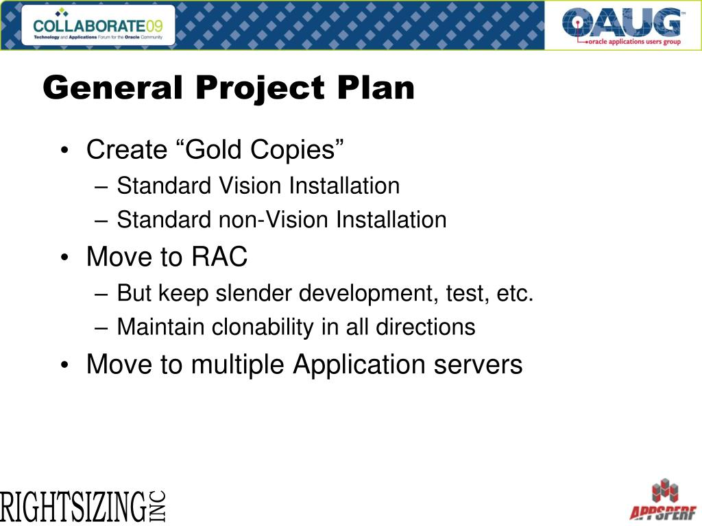 General Project Plan