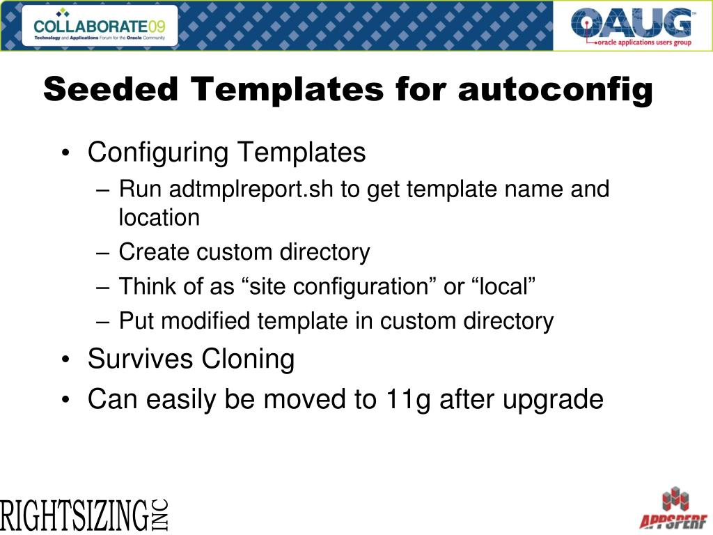 Seeded Templates for autoconfig