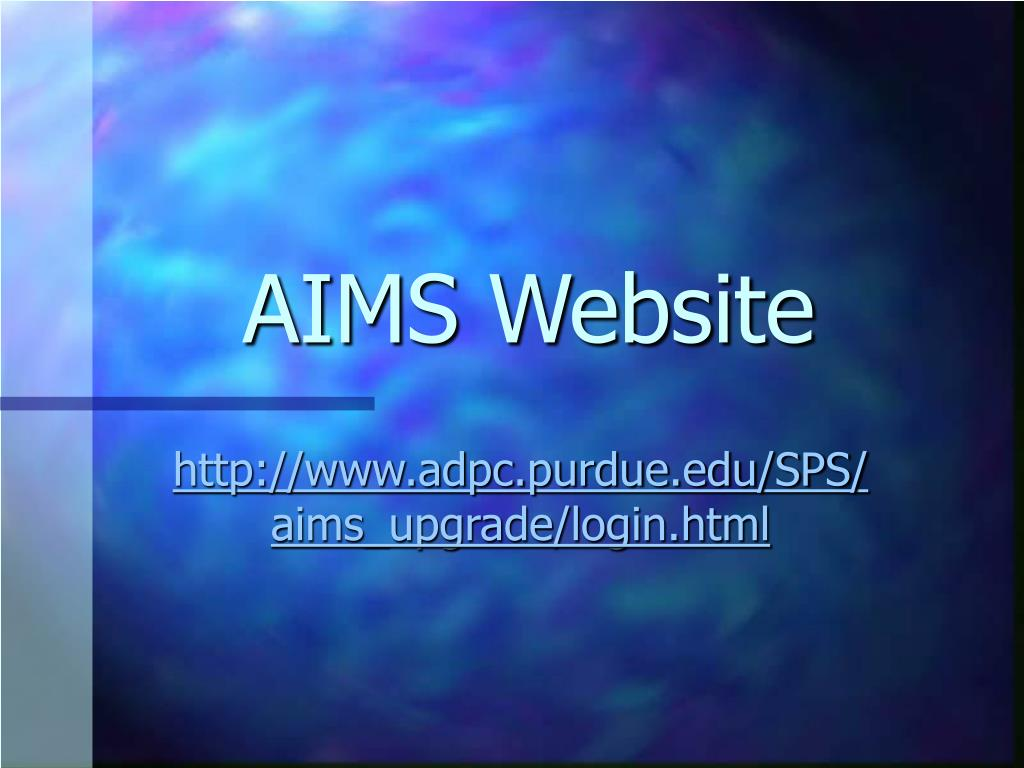 AIMS Website