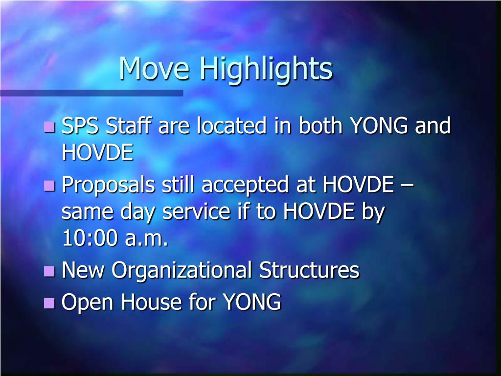 Move Highlights