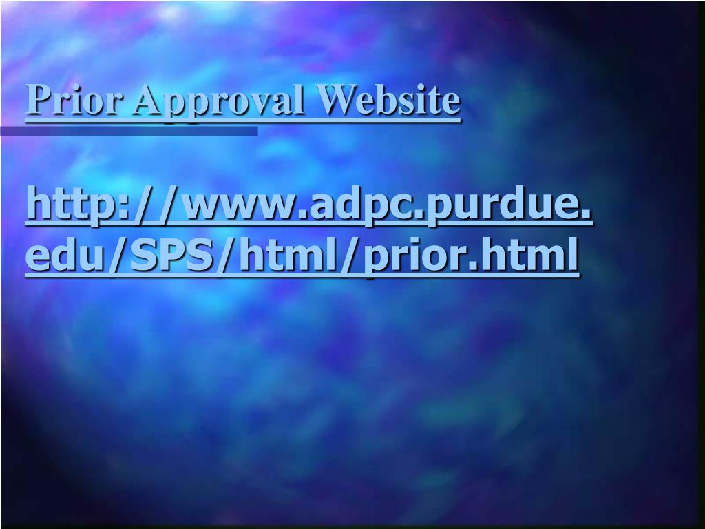 Prior Approval Website
