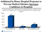 additional in house hospital programs to prevent medical mistakes increases confidence in hospitals