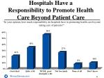 hospitals have a responsibility to promote health care beyond patient care