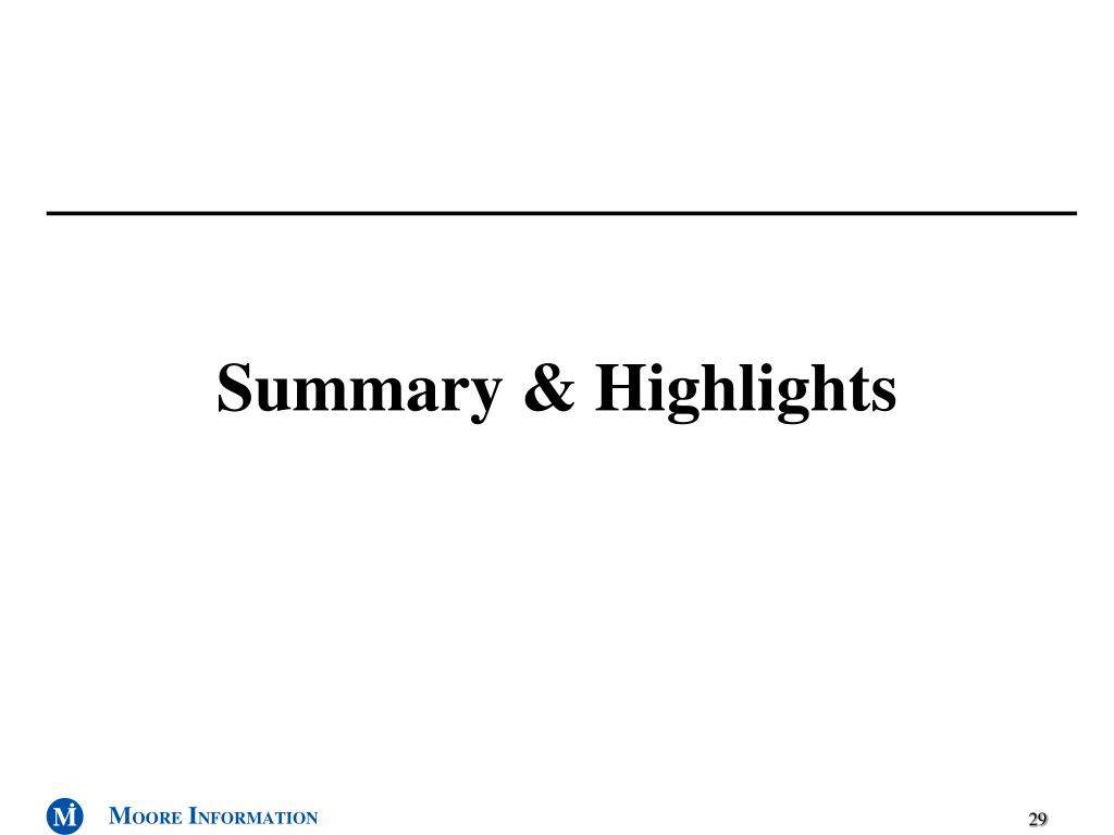 Summary & Highlights