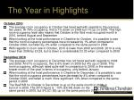 the year in highlights15