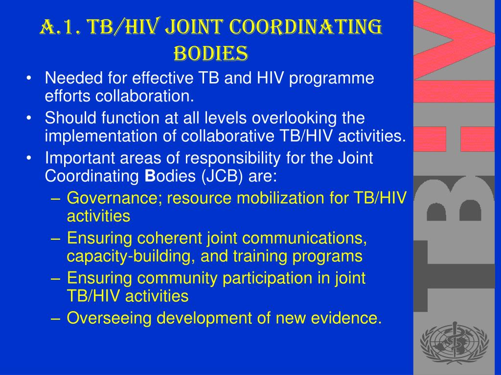 A.1. TB/HIV Joint Coordinating Bodies