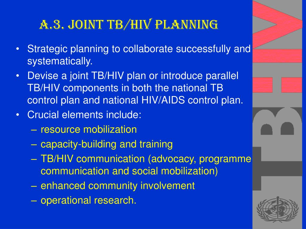 A.3. Joint TB/HIV planning