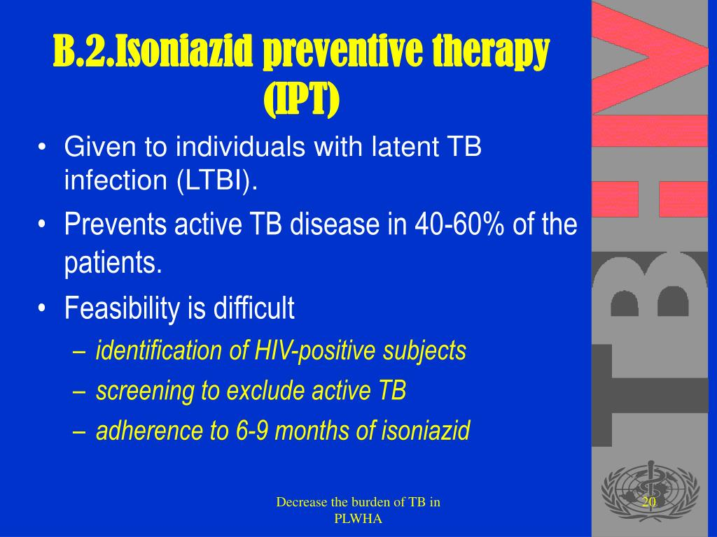 B.2.Isoniazid preventive therapy (IPT)