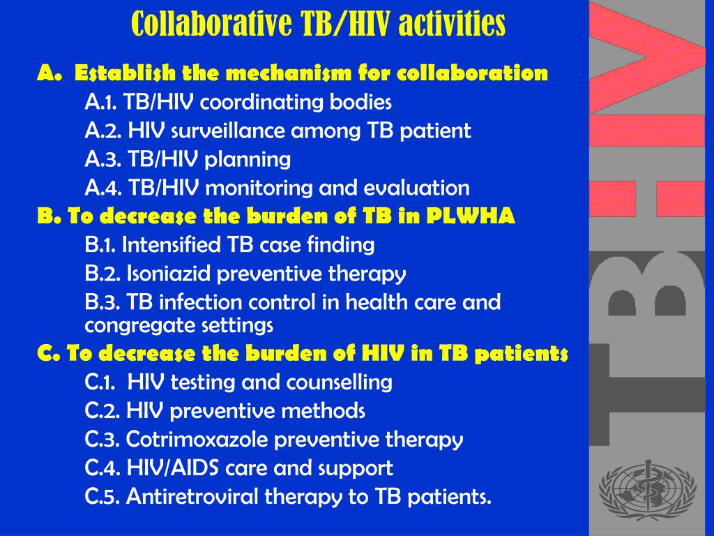 Collaborative TB/HIV activities