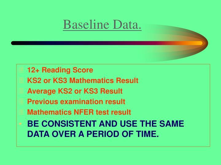 Baseline Data.