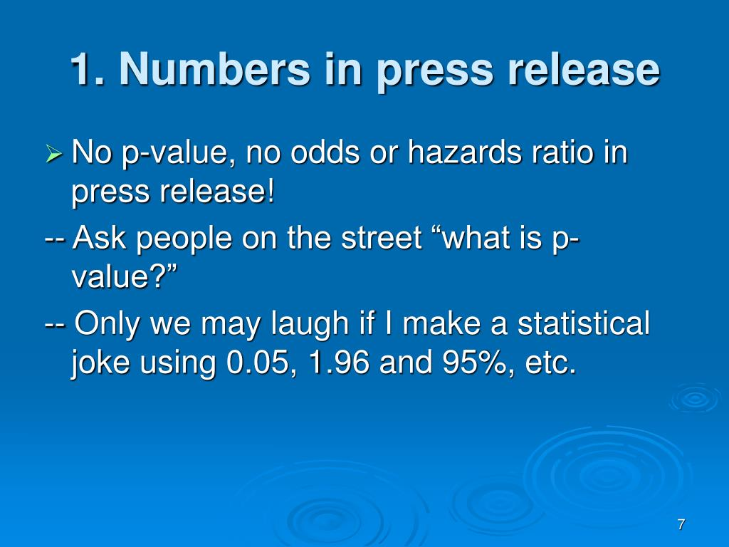 1. Numbers in press release