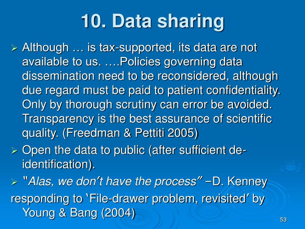 10. Data sharing