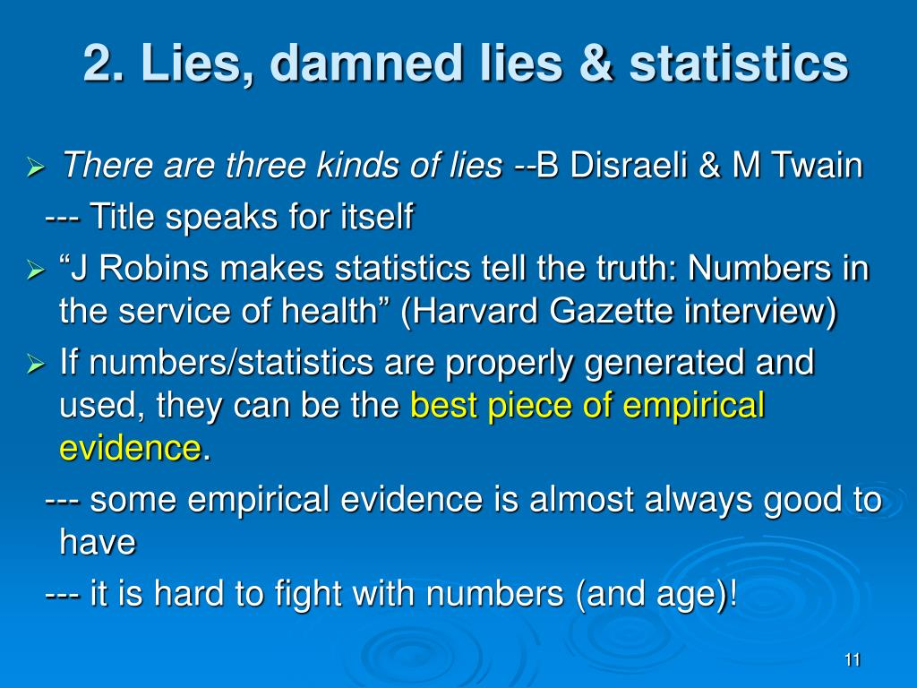 2. Lies, damned lies & statistics