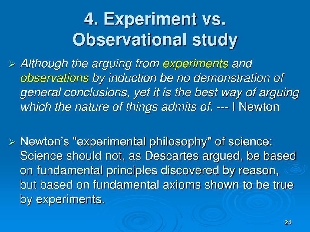 4. Experiment vs.