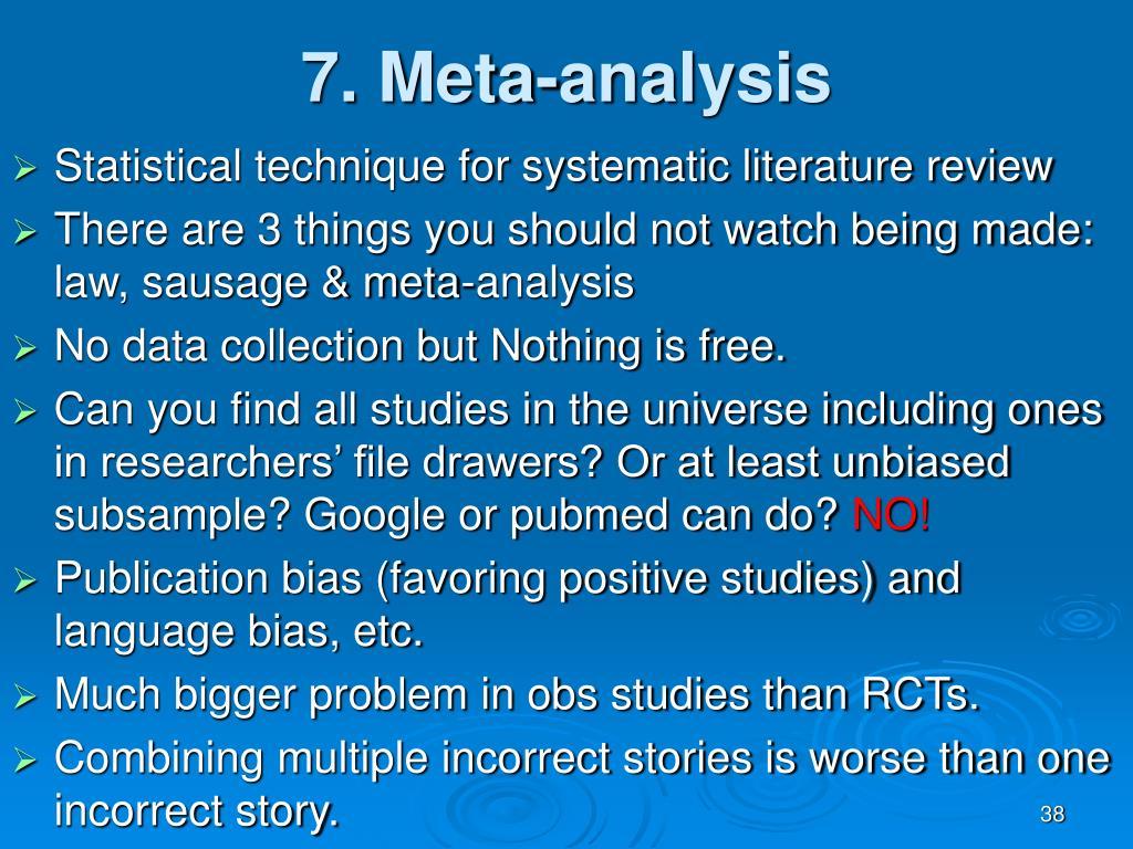7. Meta-analysis