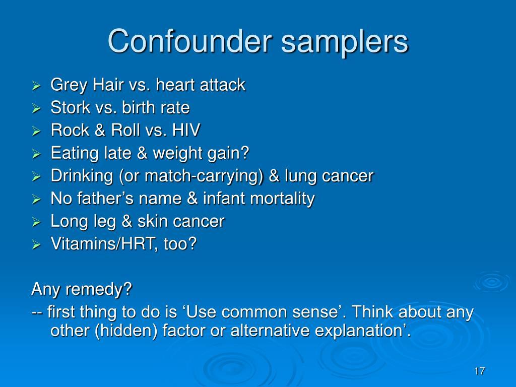 Confounder samplers