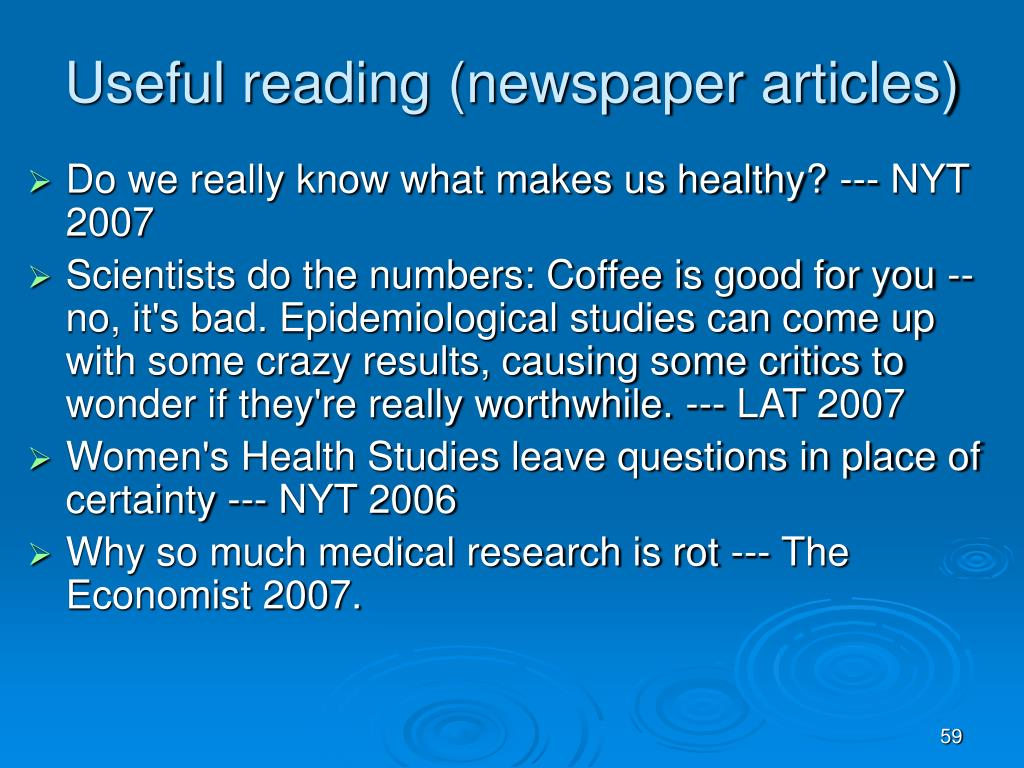 Useful reading (newspaper articles)