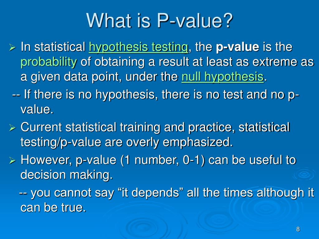 What is P-value?