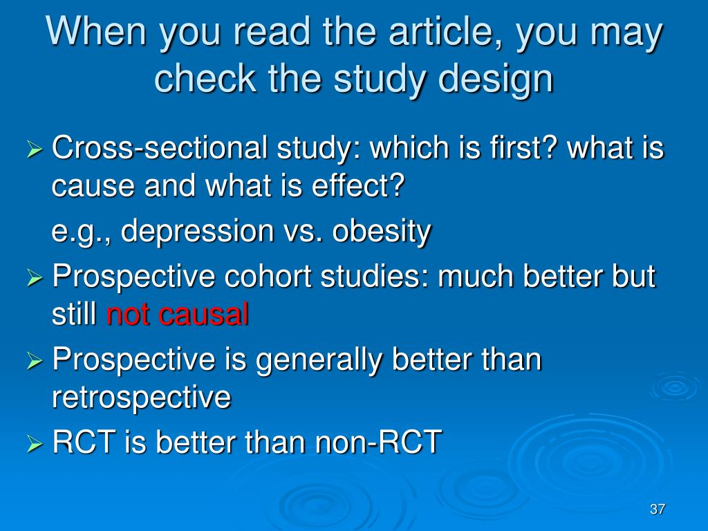 When you read the article, you may check the study design