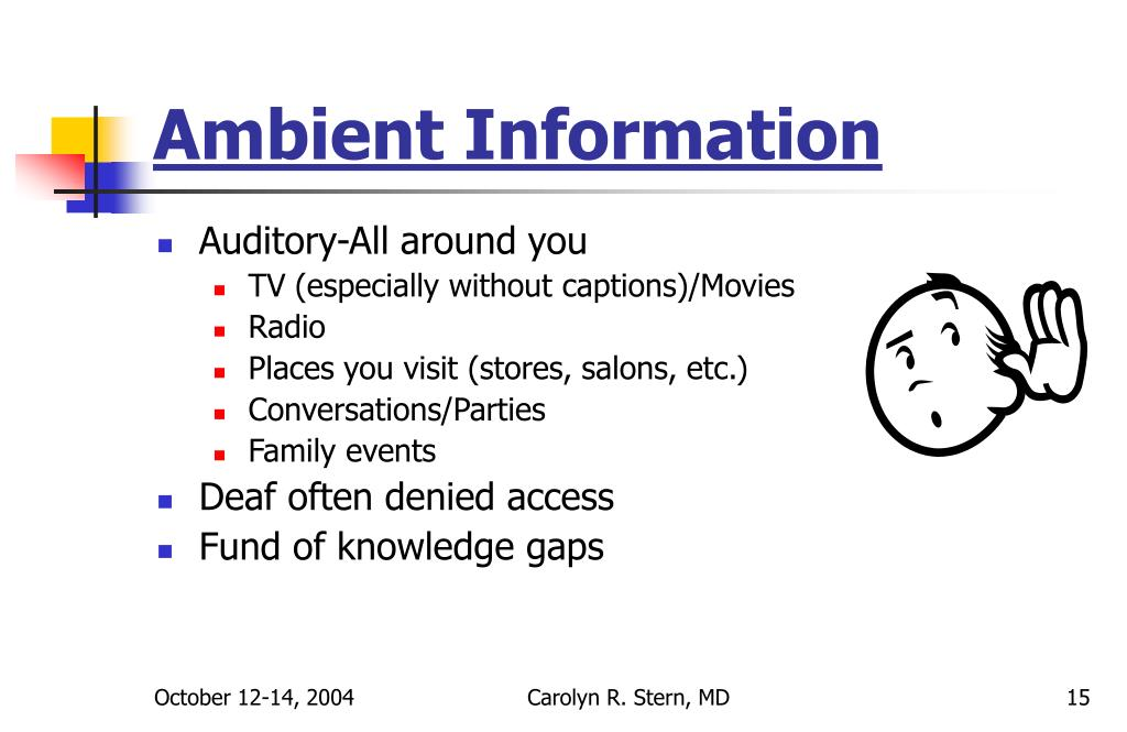 Ambient Information