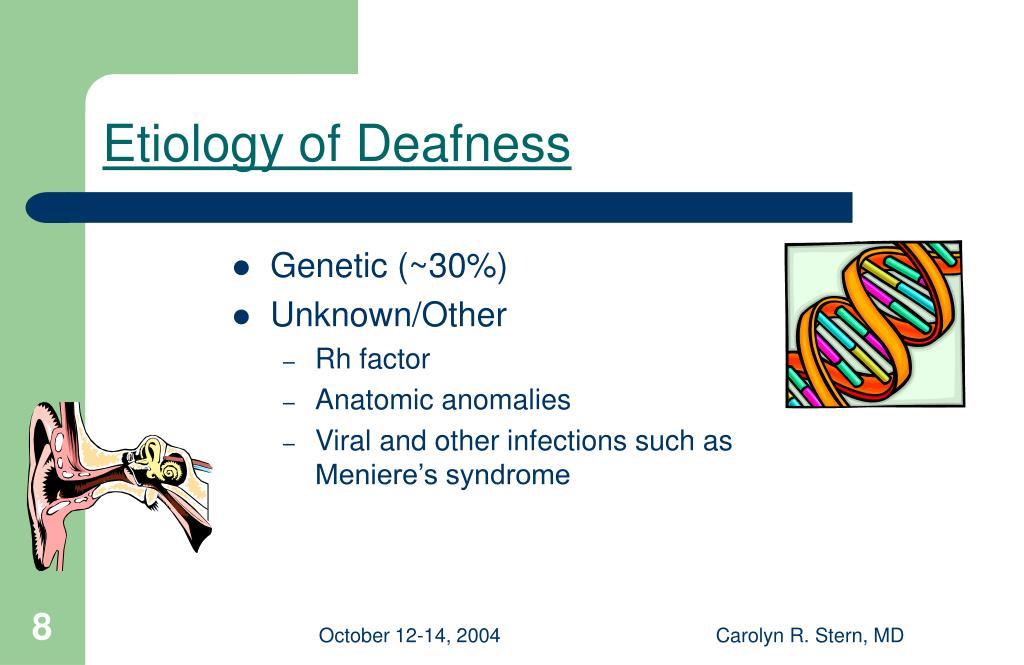 Etiology of Deafness