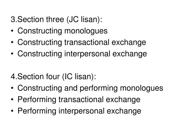 3.Section three (JC lisan):