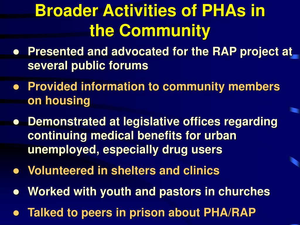Broader Activities of PHAs in the Community