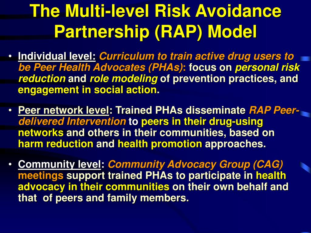 The Multi-level Risk Avoidance Partnership (RAP) Model