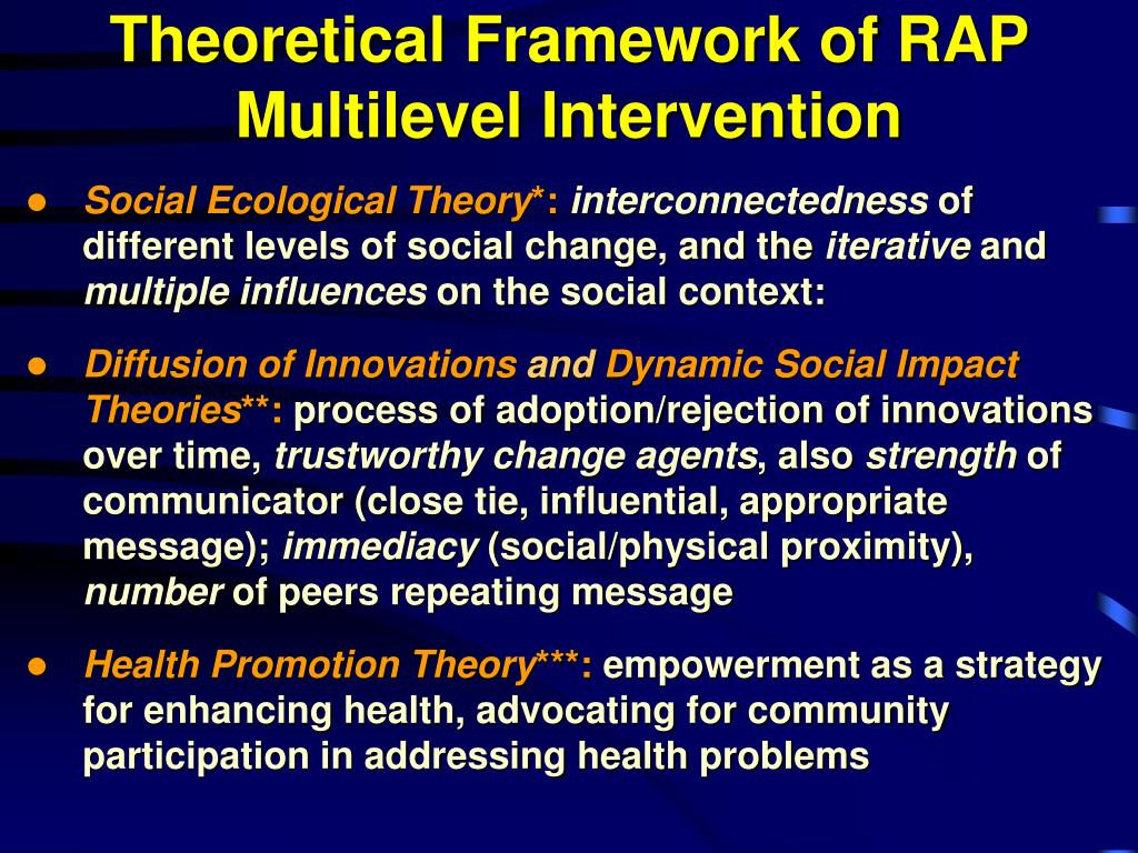Theoretical Framework of RAP Multilevel Intervention
