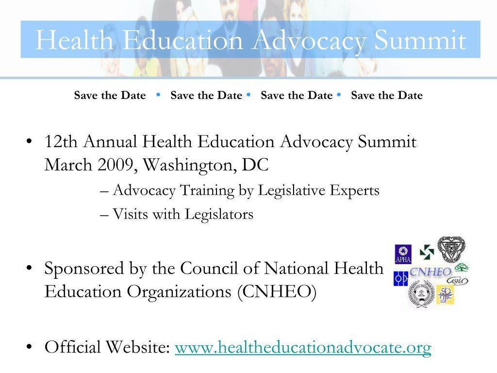Health Education Advocacy Summit