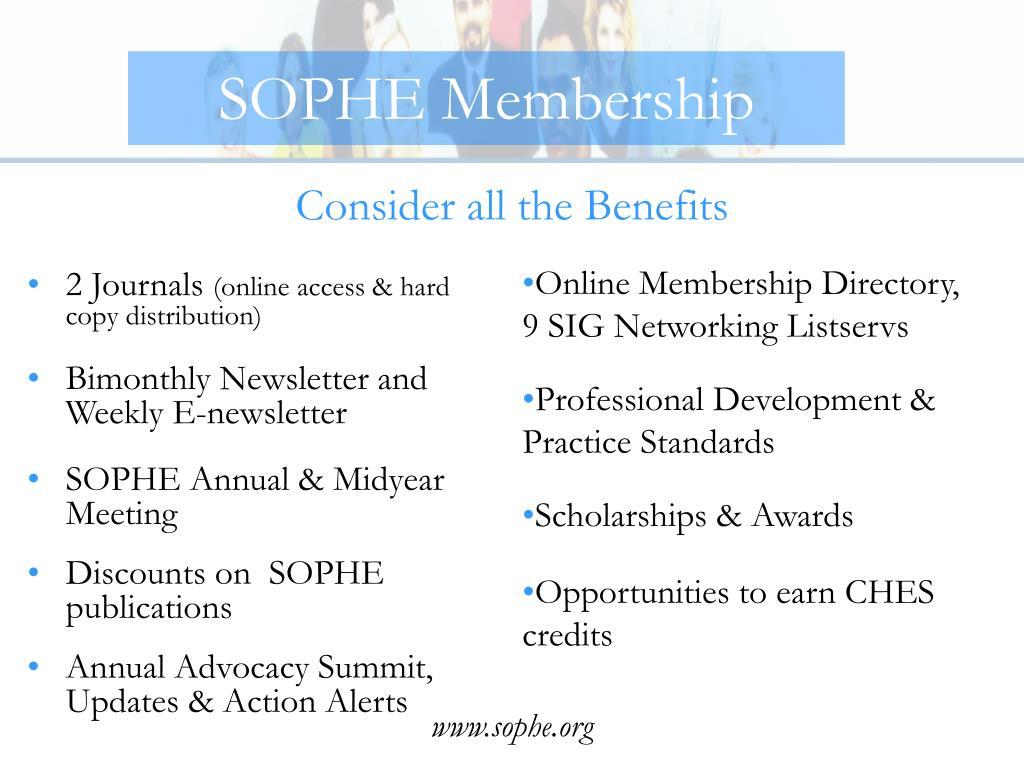SOPHE Membership